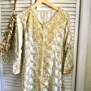 {Vintage Couture} Beaded Sequin & Silk Dress Robe